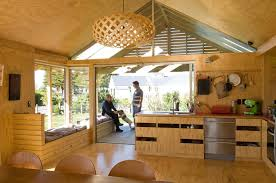 Powerful Shoal Bay Bach Interior with Wooden Interior Design Ideas