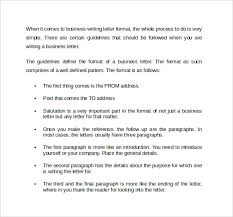 Download Formal Business Writing Letter Format