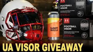under armour visor football. contest - ua visor contest under armour give away football u