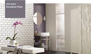 modern bathroom colors 2014. Exclusive Plum Used As An Accent Wall In A Bathroom Modern Colors 2014 O
