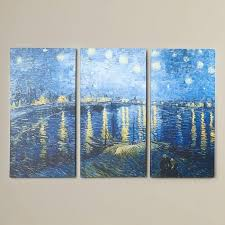 vincent van gogh starry night over the rhone starry night over the by van 3 piece painting print on vincent van gogh starry night rhone vincent van gogh
