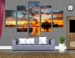 modern giclee print sydney opera house 5 panels canvas painting printed on canvas for home decoration pictures wall art no frame in painting calligraphy  on wall art sydney with modern giclee print sydney opera house 5 panels canvas painting