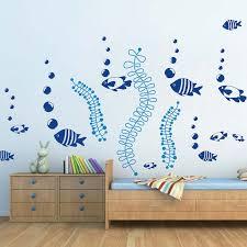 diy fish bubbles wall stickers trendy wall designs