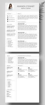 Resume Template Cv Template Professional Resume Resume