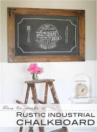 DIY Rustic Industrial Chalkboard