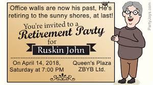 Retirement Celebration Invitation Template 10 Farewell Party Invitation Wordings To Bid Goodbye In Style