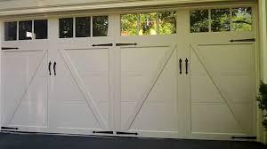 white wood garage door. Exterior White Wood Clopay Garage Doors With Glass Transom Window Door