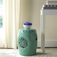safavieh flower drum 17 in aqua ceramic