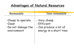 renewable and non renewable resources com