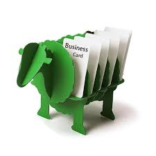 3d puzzle sheep creative diy business card holder for desk animal office stationery desktop card organizer decoration gifts in puzzles from toys hobbies