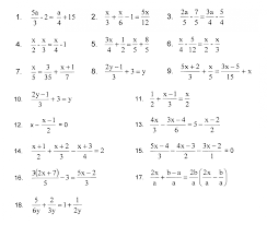 solving multi step equations withractions worksheet answers kuta one with fractions worksheets linear pdf one