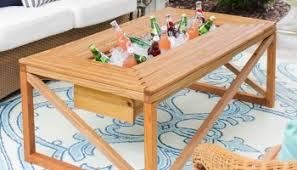diy patio table. Perfect Table Brilliant DIY Cooler Tables For The Patio With Builtin Coolers Sinks With Diy Table
