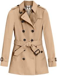 burberry sandringham short trench coat wnlel70281 womens clothing