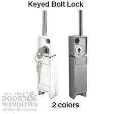 sliding door locks with key. Sliding Patio Door Bolt Lock Keyed White Or Locks With Key