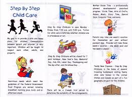baby pamphlets child care brochure