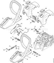 Stihl ms 181 chainsaw ms1812mix parts diagram handle frame