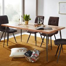 Wohnling Esstisch Lodi Esszimmertisch Massivholz Holztisch Tisch Esszimmer 200cm