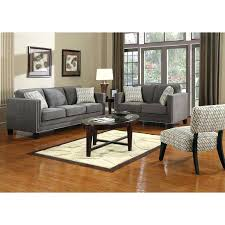 gray sectional sofa emerald home furniture city ators grey nailhead dark with trim