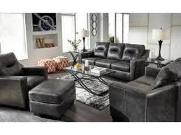 ashley furniture charcoal grey top grain leather sofa 799 no credit check financing