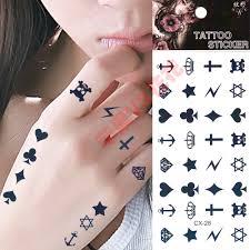 Latestdiamond Skull Tattoo Stickers Waterproof Female Finger