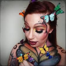 beautiful fantasy erfly makeup