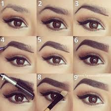 eyebrow shadow. eyebrow make up tutorial- screenshot shadow