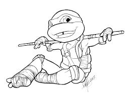 Teenage Mutant Ninja Turtles Leonardo Coloring Page Free Download