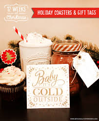 diy holiday gift homemade hot chocolate mix with coasters recipes and gift tags
