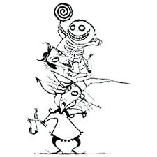 Jack Skellington Christmas Coloring Pages Nightmare Before Coloring