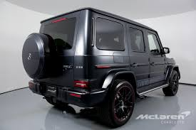 Obsidian black metallic with designo black leather and black piano lacquer hardwood, fully equipped according to std spec on the g63 amg version, other extra equipment. Used 2019 Mercedes Benz G Class Amg G 63 For Sale 249 996 Mclaren Charlotte Stock 308744