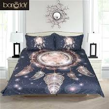 Black Queen Size Bed Set Dream Catcher Bedding Galaxy Duvet Cover ...