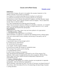 cause effect essay cause and effect essay writing org cause and effect essay