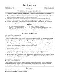 mechanical equipments list sample resume for an experienced mechanical designer monster com
