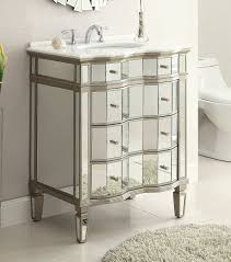 Adelina 30 inch Mirrored Bathroom Vanity Cabinet & Mirror