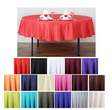 90 round polyester tablecloth for wedding party banquet events decoration