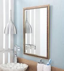 Wall mounted bathroom mirror Frameless Mirror Zahab Brown Fiber Frame Wall Mounted Mirror Pepperfry Buy Zahab Brown Fiber Frame Wall Mounted Mirror Online Wall