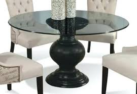 crestone pedestal table base with glass top from the cove idea 18 60 round glass dining