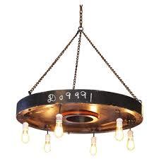chandelier vintage industrial hanging pendant lighting six edison bulbs for