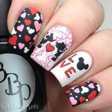 cdbnails143-Mickey and Minnie Mouse Love | Mickey nails, Nail designs  valentines, Disney nails