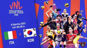 ถ่ายทอดสด วอลเลย์บอลหญิง เนชันส์ลีก 2021 อิตาลี vs เกาหลีใต้ HD พากย์ไทย
