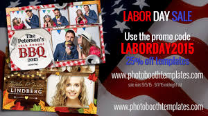 labor day % off all photo booth templates