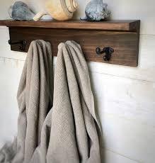 coat rack wall mount shelf with hooks