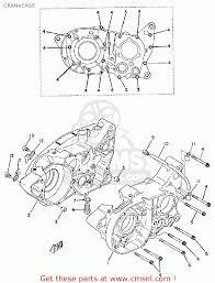 yamaha ty250 1974 usa crankcase schematic partsfiche crankcase schematic