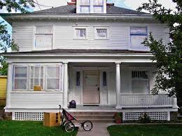 painting exterior trim. exterior trim ready for spraying. painting
