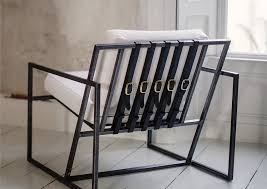 furniture metal. Our Simple, Elegant Take On The Classic Arm Chair, Leather Straps And Steel Frame, Is A Versatile Piece Of Occasional Furniture Adaptable To Any Room. Metal R