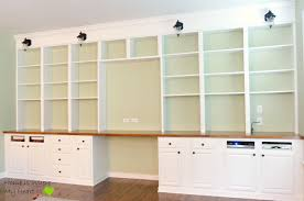 ... Wall-to-Wall Built-In Desk and Bookcase | Home Is Where My ...
