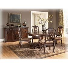 d553 50t ashley furniture north s dark brown dining room dining table