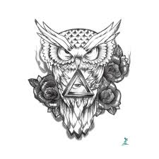Yeeech Temporary Tattoo Sticker Owl Designs Eyes Of God Small Sex Products Arm Leg Body Art Makeup For Men Women Color Black