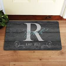 Image Logo Family Initial Name Doormat Personal Creations Personalized Doormats Welcome Mats Personal Creations
