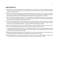 Bibliography Airport Community Water Quality Events And The